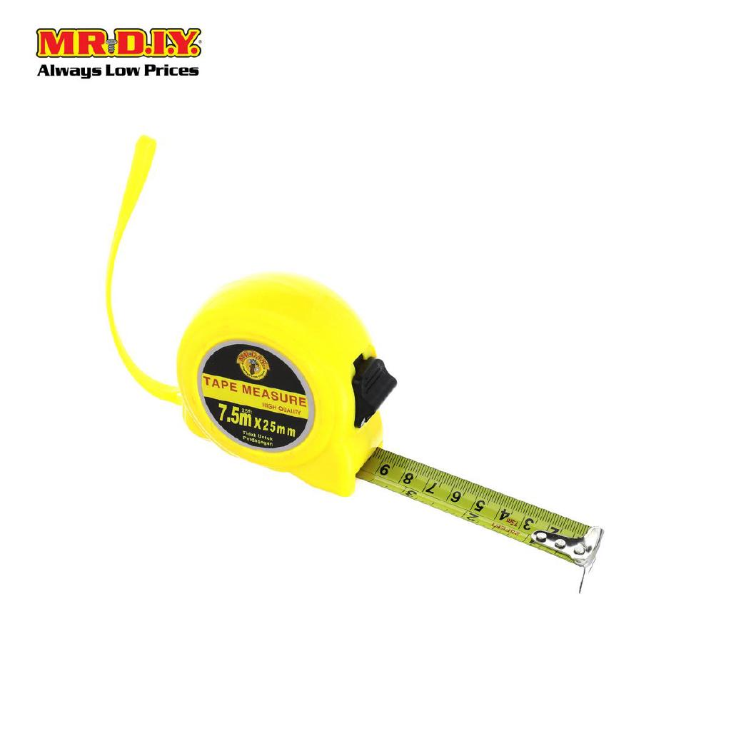 7.5M X 25Mm Self Locking Measuring Tape Push Button Metric Inch Belt Clip New