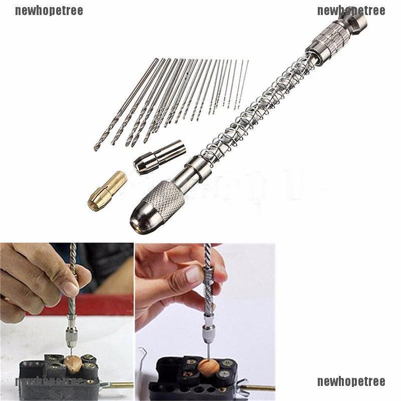 20pcs 0.3-1.6mm HSS Twist Micro Drill Bits Aluminum Hand Drill Home Repair New