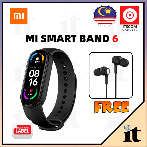 "【 NEW ARRIVAL 】Xiaomi Mi Smart Band 6 Sport Bracelet 1.56"" AMOLED Fitness Tracker Blood Oxygen Monitor - READY STOCK"