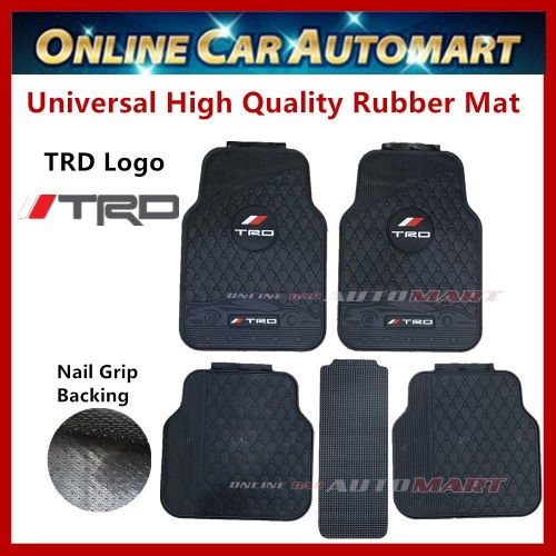 Universal High Quality Rubber Spike Nail Backing With TRD Logo Floor Mat