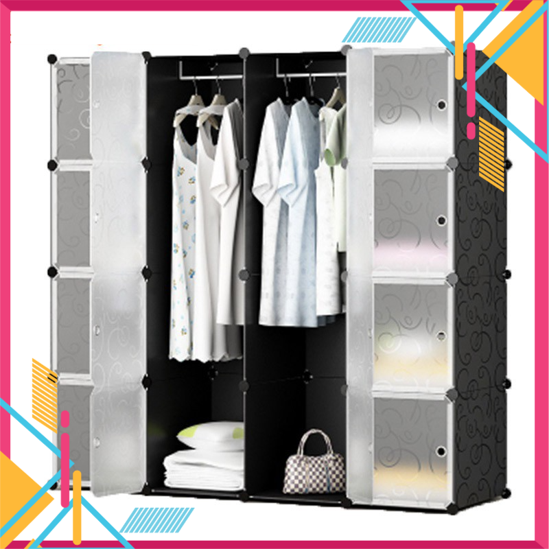 Malaysia Ready Stock Free Gift BeautyLand DIY Magic 16 Cube Almari Bedroom Furniture Storage Cabinet Clothes Organizer