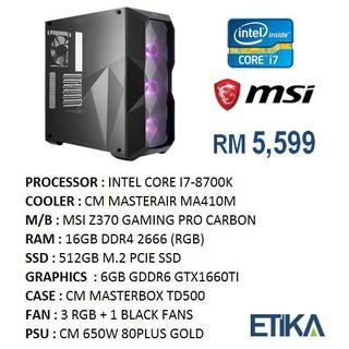 High End Gaming DIY Intel PC Package - Intel i7-8700K, 16GB DDR4 RGB