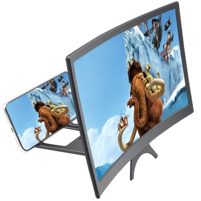 New L6 curved HD screen amplifier 12 inch curved mobile phone screen amplifier with wide field