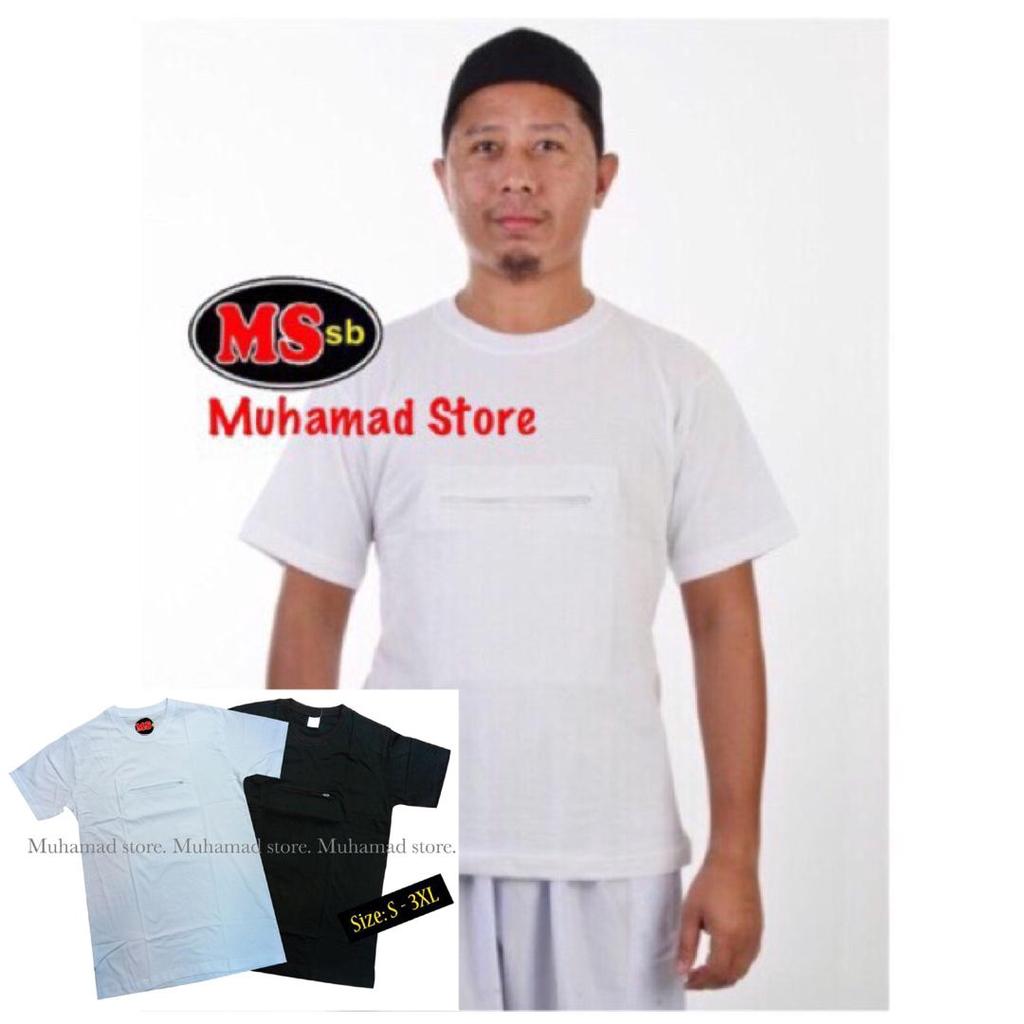 Haji Mens T-Shirt putih & Hitam