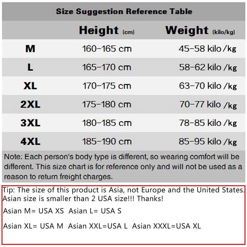 Asian Xl Size Chart