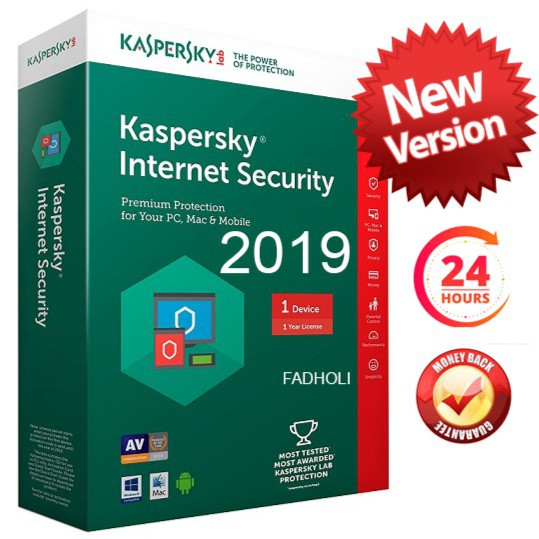 KASPERSKY INTERNET SECURITY 2019 FOR 1 USER| GENUINE ACTIVATION KEY