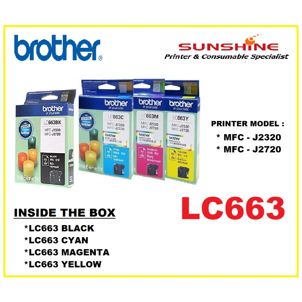 BROTHER LC539XL LC535XL INK CARTRIDGE (J100 J105 J200 535 539) | Shopee Malaysia