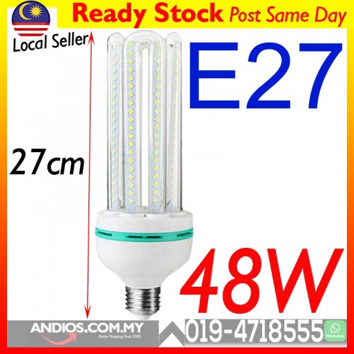 2 X B22 E27 5W 9W 20W 30W White 3U Shape Corn SMD LED Bulb Cool White 6000K