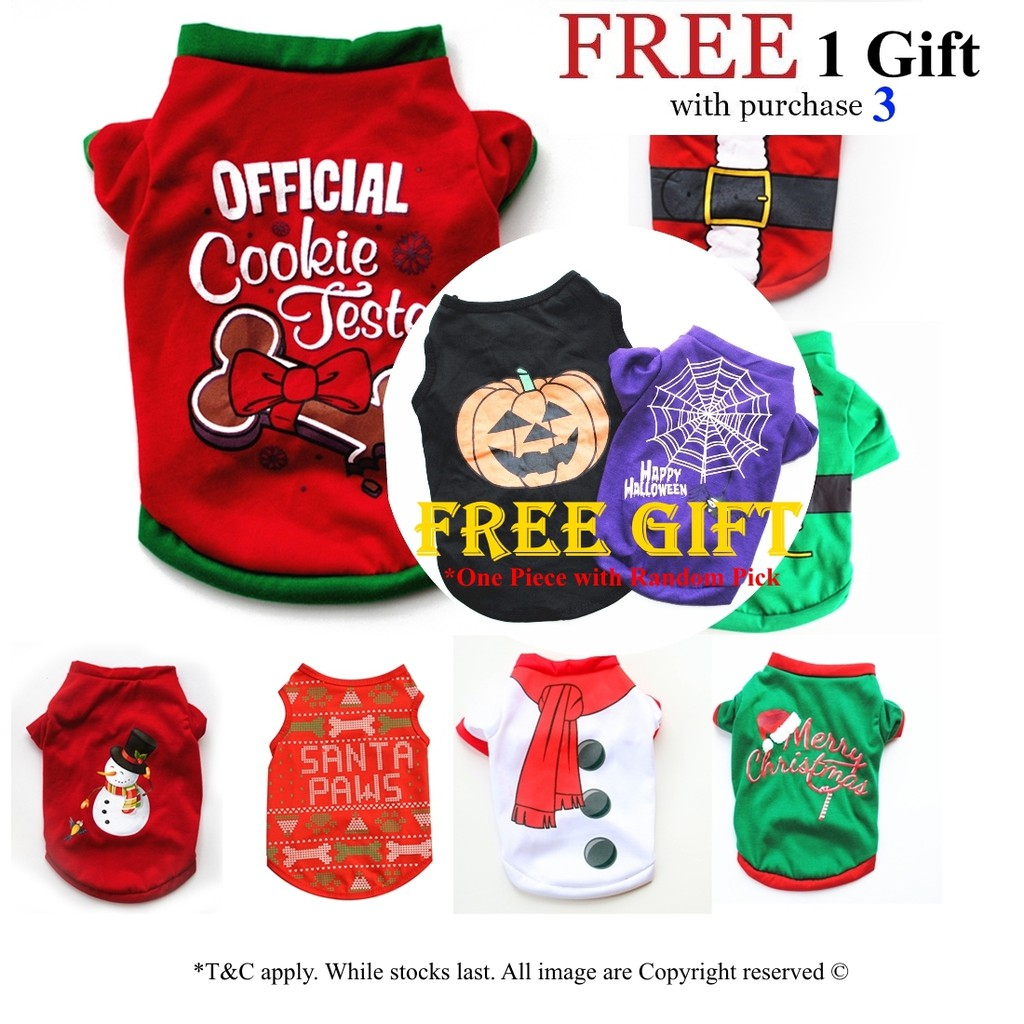 Cat🐶 Dog 🐶 Shirts Christmas Costume Cute Cartoon Clothes For puppy dog & Cat Costume Dress Xmas apparel for kitty