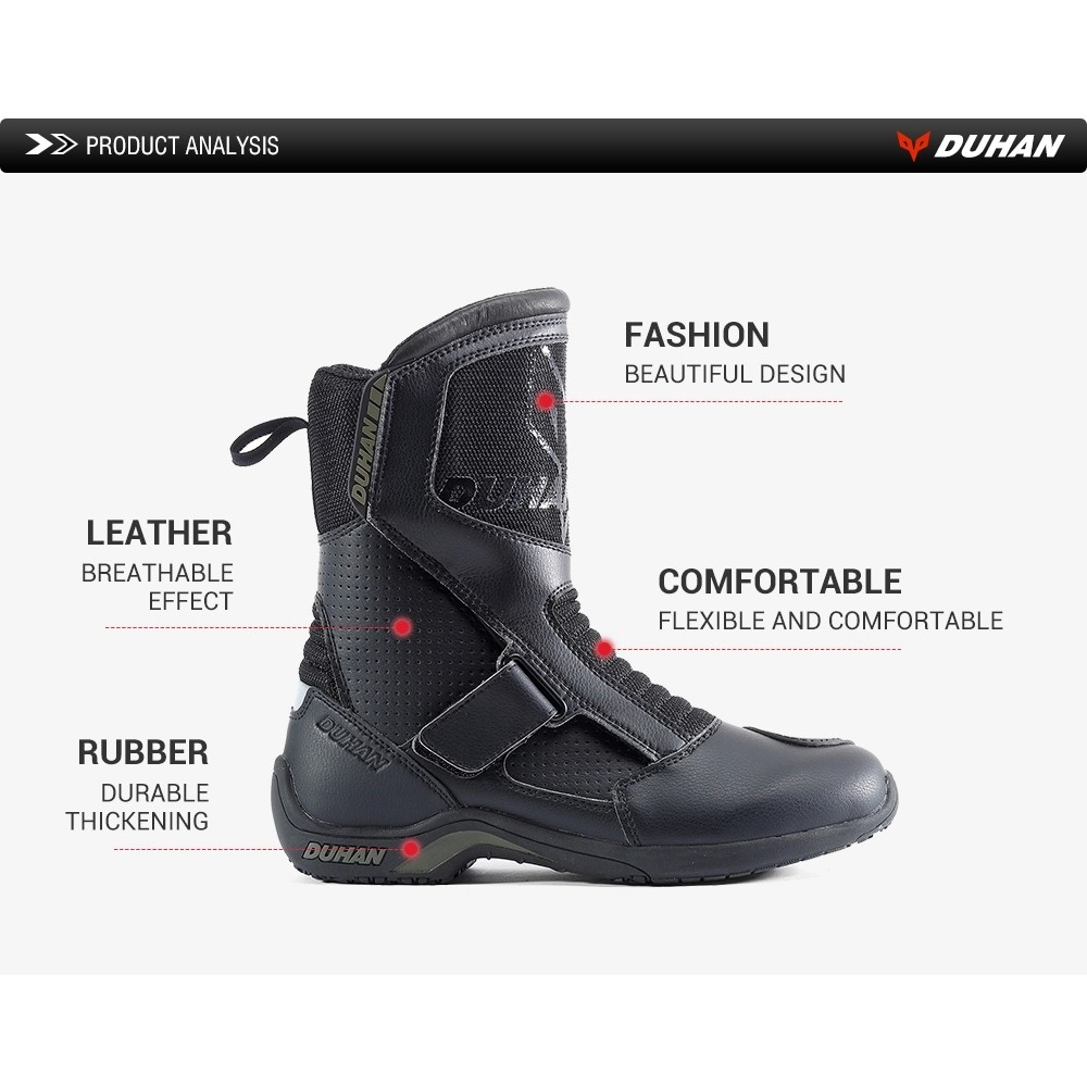 Black GearX Motorbike Touring Protection Boots Leather Water Proof 11 // EU 45