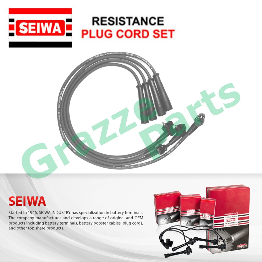 Seiwa (Made in Japan) Spark Plug Cable Wire for Toyota Hiace RZH112 4 Wire - With Clips