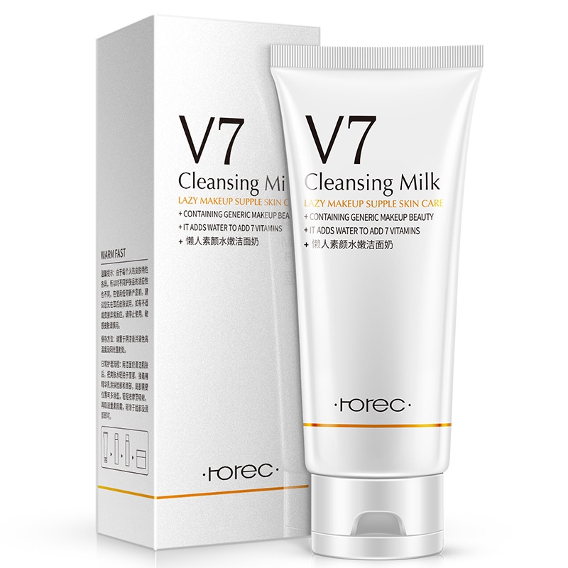 V7 plain face lazy person supple cleanser facial cleanser hydrating nourish clean oil control Cleansing foam