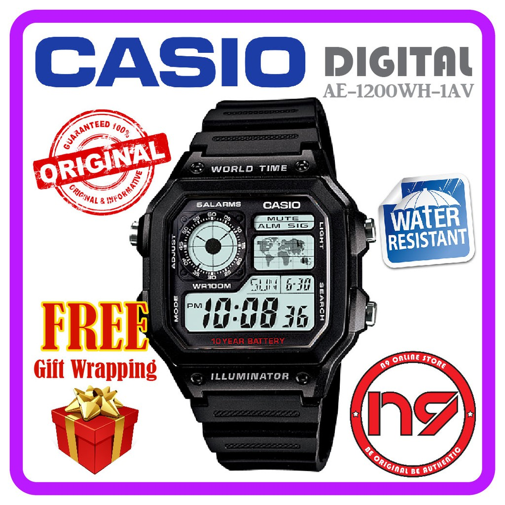 Casio F-201WA-9A Digital Men Watches Resin Strap Sports Casual Watch Jam  Tangan  01072e929c