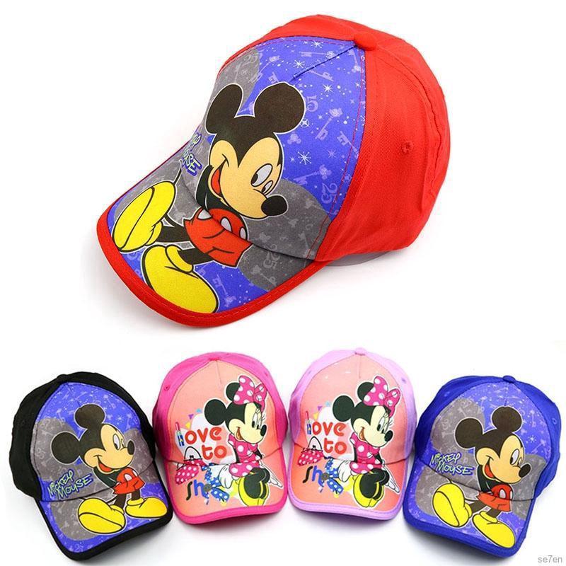 b91152008 💕Se7en baby boys girls causal outdoor Mickey visor baseball cap