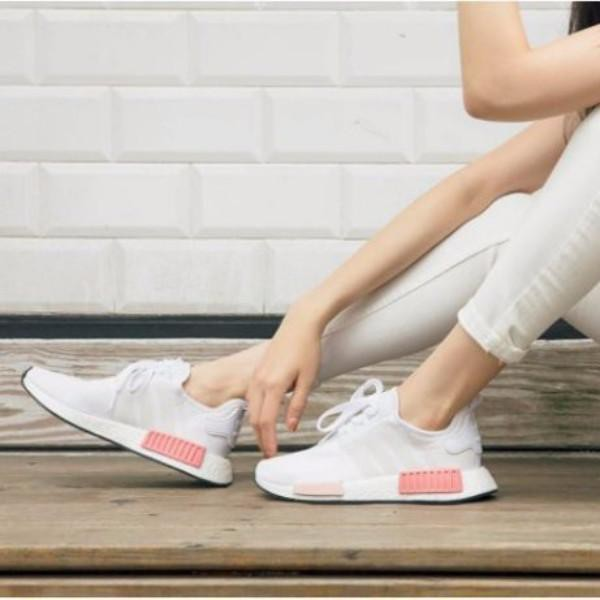best website badd9 950e9 authentic Adidas NMD R1  White Rose    Shopee Malaysia