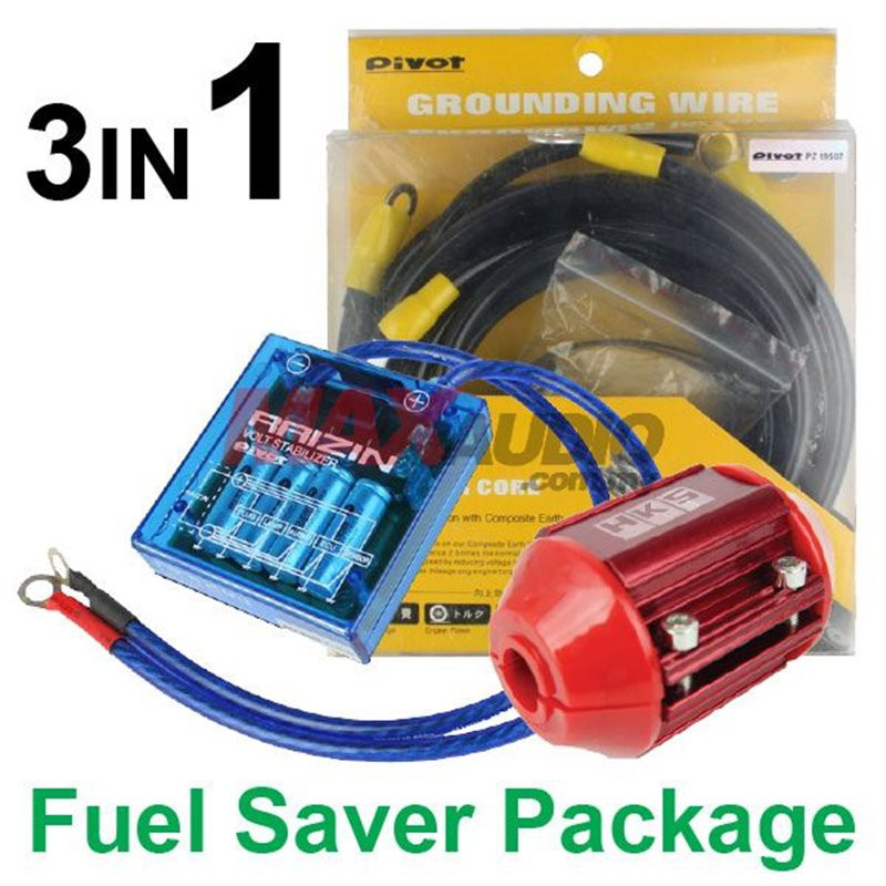 [FREE Gift]3in1 PIVOT VS-1 Voltage Stabilizer + PIVOT 5-Point Grounding Cable + HKS Magnet Fuel Saver Package