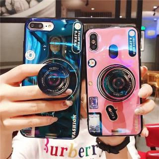 wholesale dealer 1fb3f 91bdf Samsung Galaxy S7 edge S8 S9 Plus S10 Lite 3D Blue Ray Camera Popsocket Case