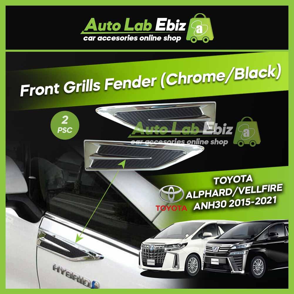 Toyota Alphard Vellfire ANH30 2015-2021 Front Gills Fender (Chrome/Black)
