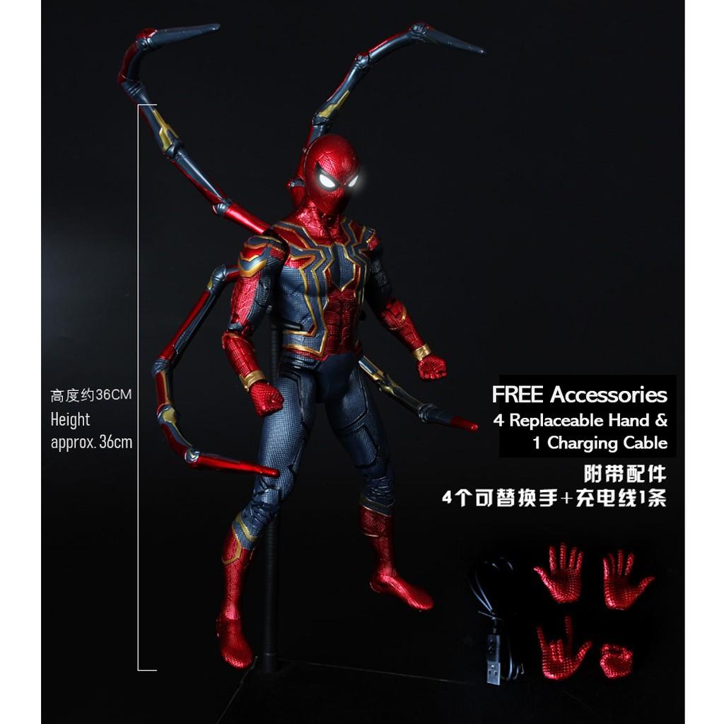 [MARVEL] Large 36cm Iron Man/Captain/Spider-Man Model Toy Collection Set 漫威蜘蛛侠模型