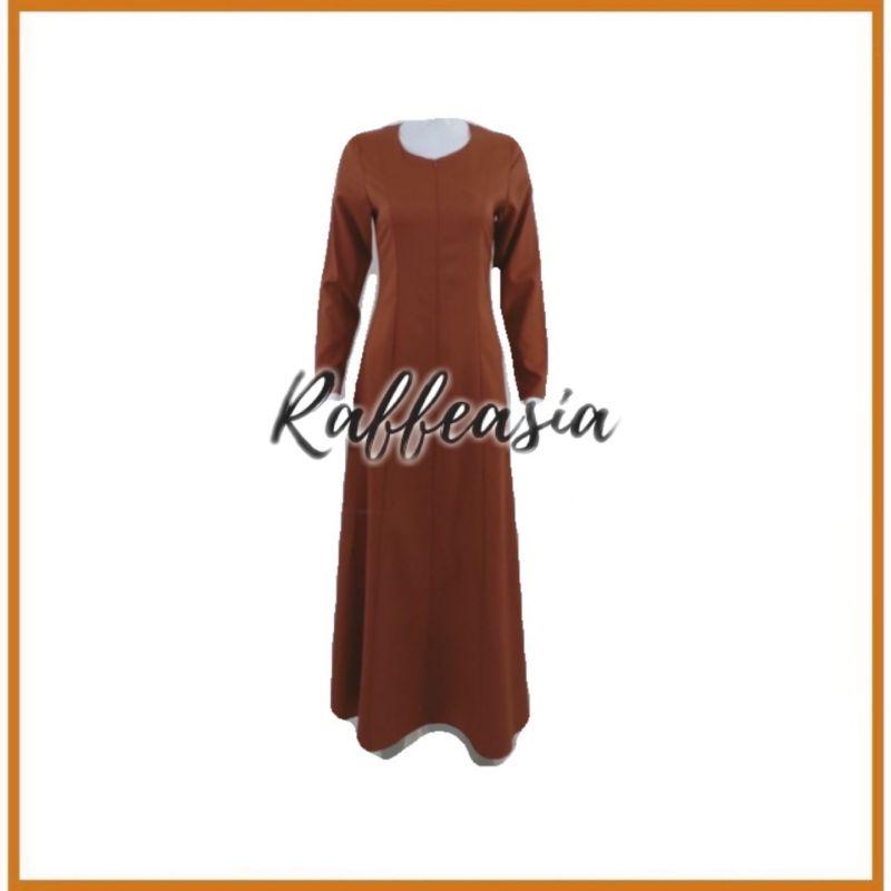 RAFFEASIA JUBAH MOSCREPE PLAIN NURSING JUBAH DRESS
