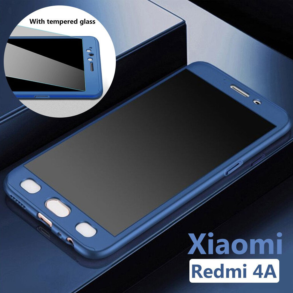 Xiaomi Redmi 4A Full Protection Phone Cases Covers Accessories + Tempered Glass | Shopee Malaysia
