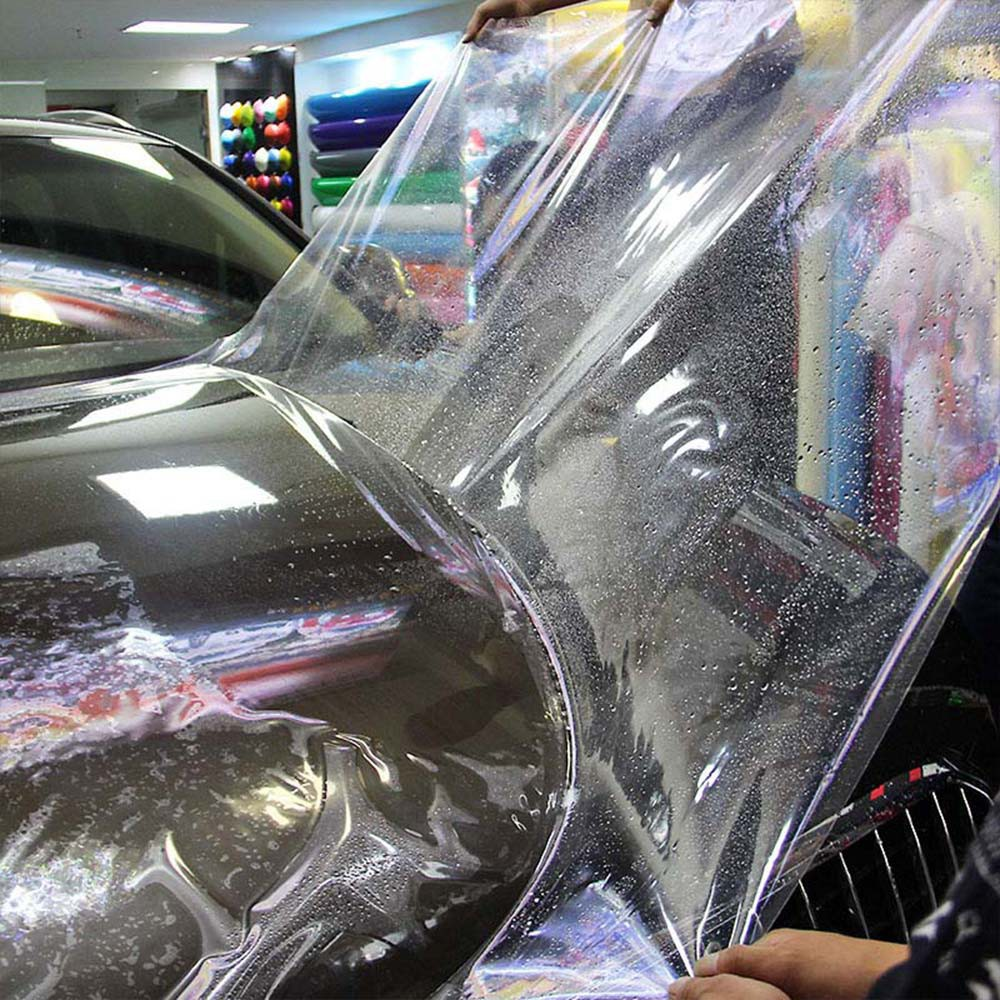 """Clear 3M Protective Gloss Transparent Film Adhesive Vinyl Decal Sheet 4/"""" x 96/"""""""