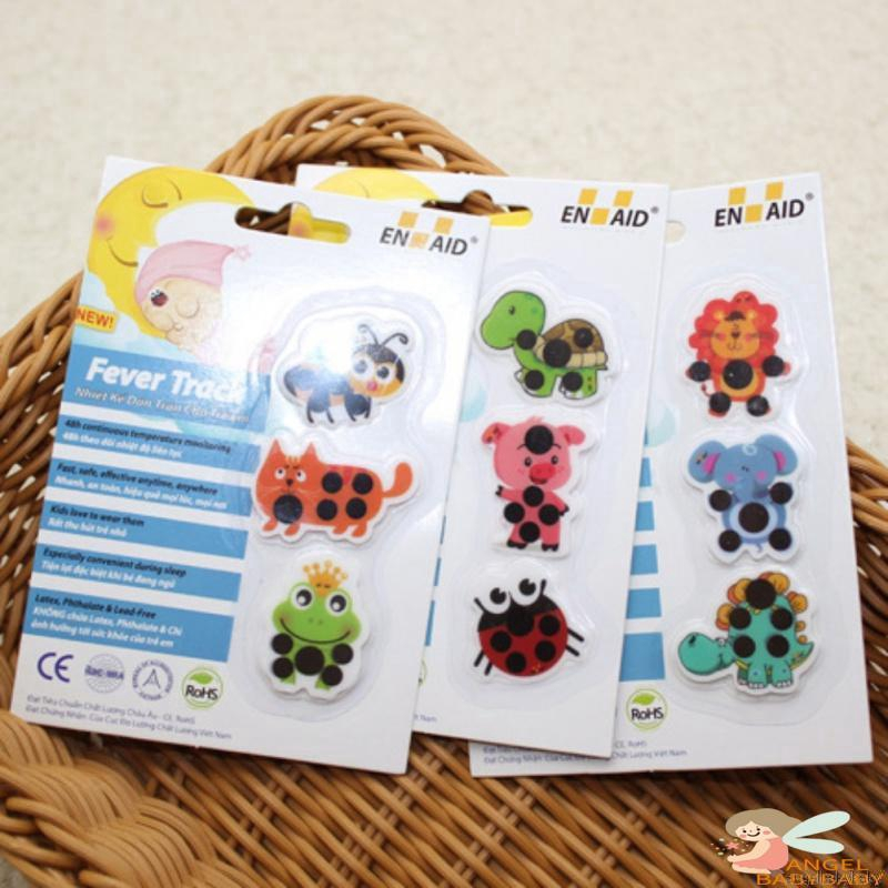 Baby Thermometer Sticker 20pcs Kids Lovely Cartoon Ladybug Temperature Indicator Baby Care Body Fever Forehead Testing