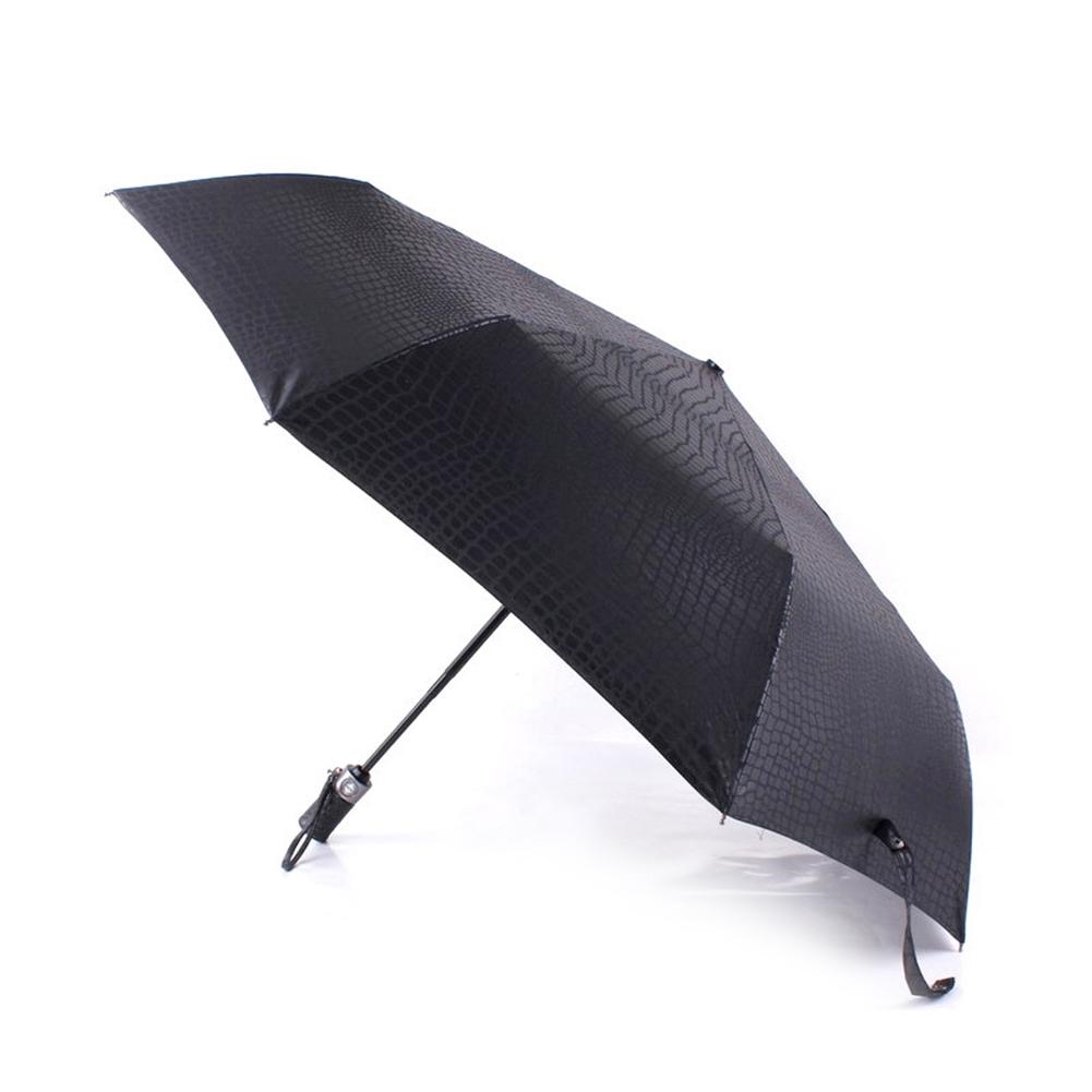 e689264b352f HL ❤ Imitation Crocodile Skin Umbrella Three Folding Windproof ...