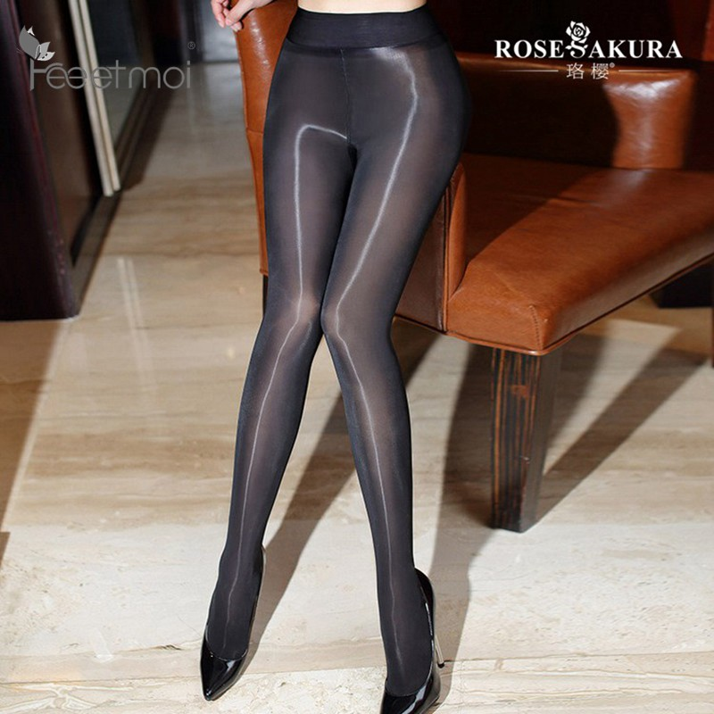 Jumpsuits Hearty Classic Hottest Womens Sheer Sexy Shiny Glossy Stocking Oil Pantyhose Tights