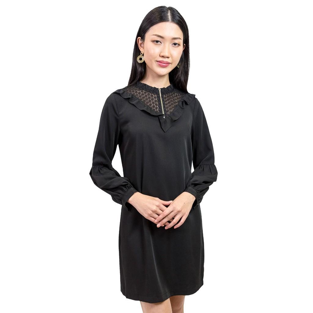 0bc82394d3f69b Nichii Embelished Yoke Smock Dress - Black | Shopee Malaysia
