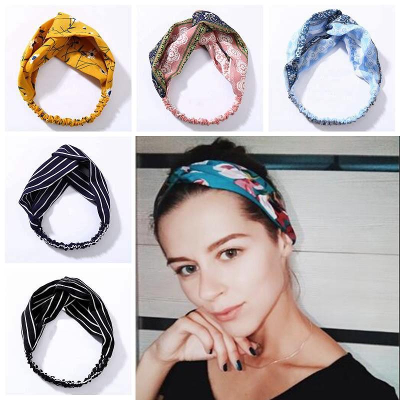 Fashion Sun Flower Turban Twist Knot Head Wrap Stretch Elastic Headband one