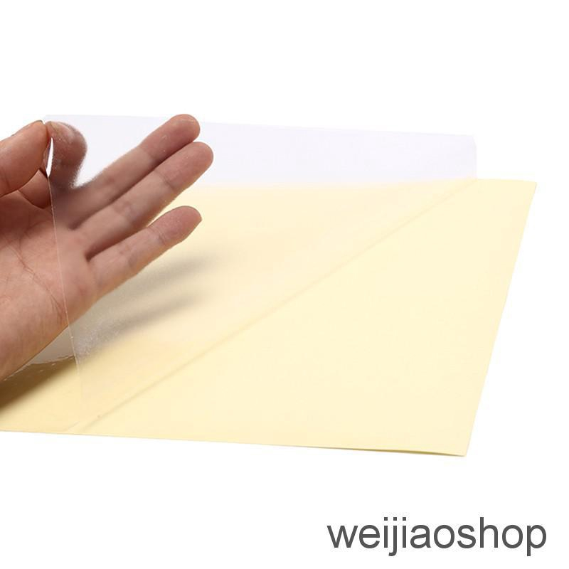 10pcs a4 clear transparent film self adhesive sticker paper for laser printer BW
