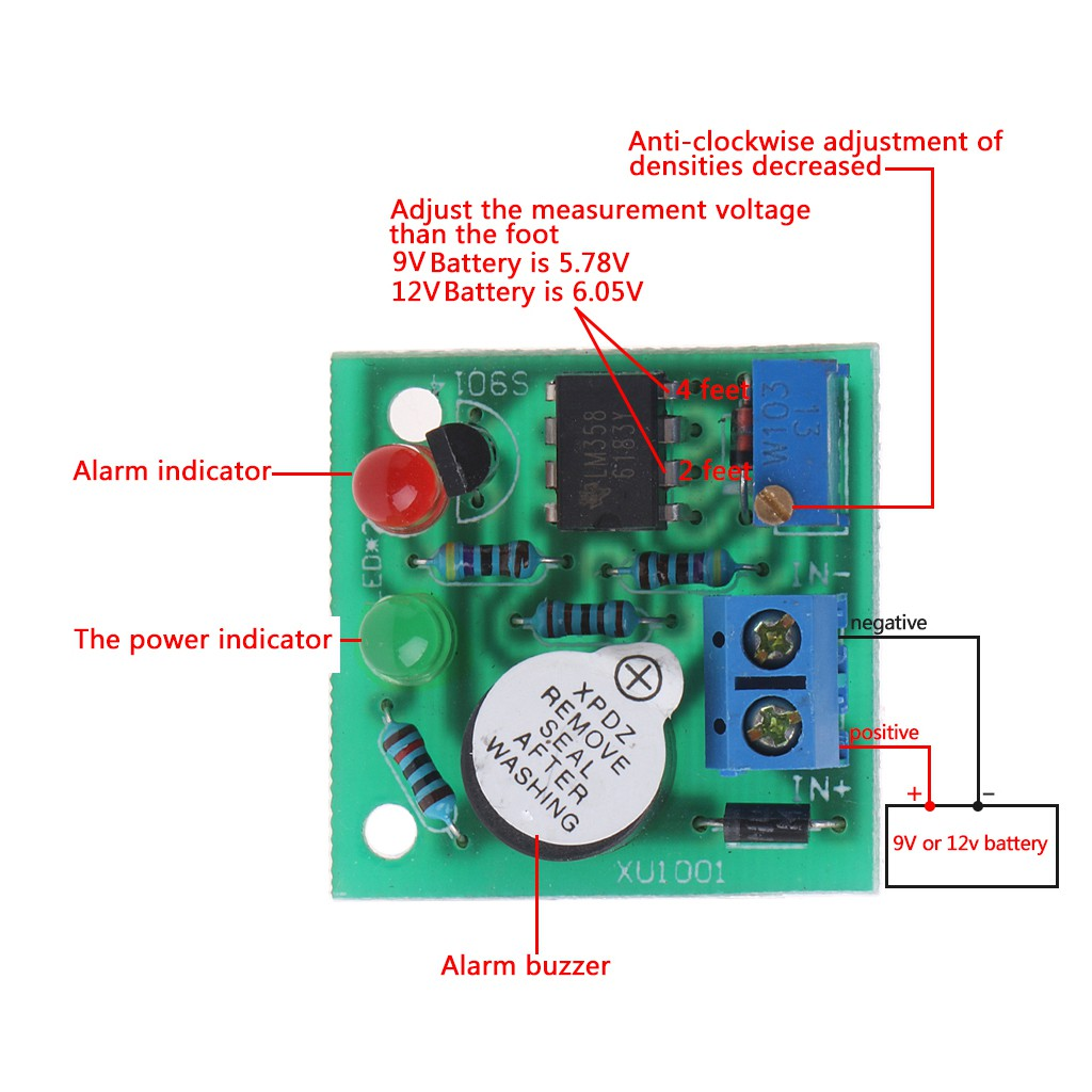 12v On Board Battery Low Voltage Alarm Buzzer Under Protection Adding Cutoff To A Circuit 3s Lipo Electrical Module Shopee Malaysia