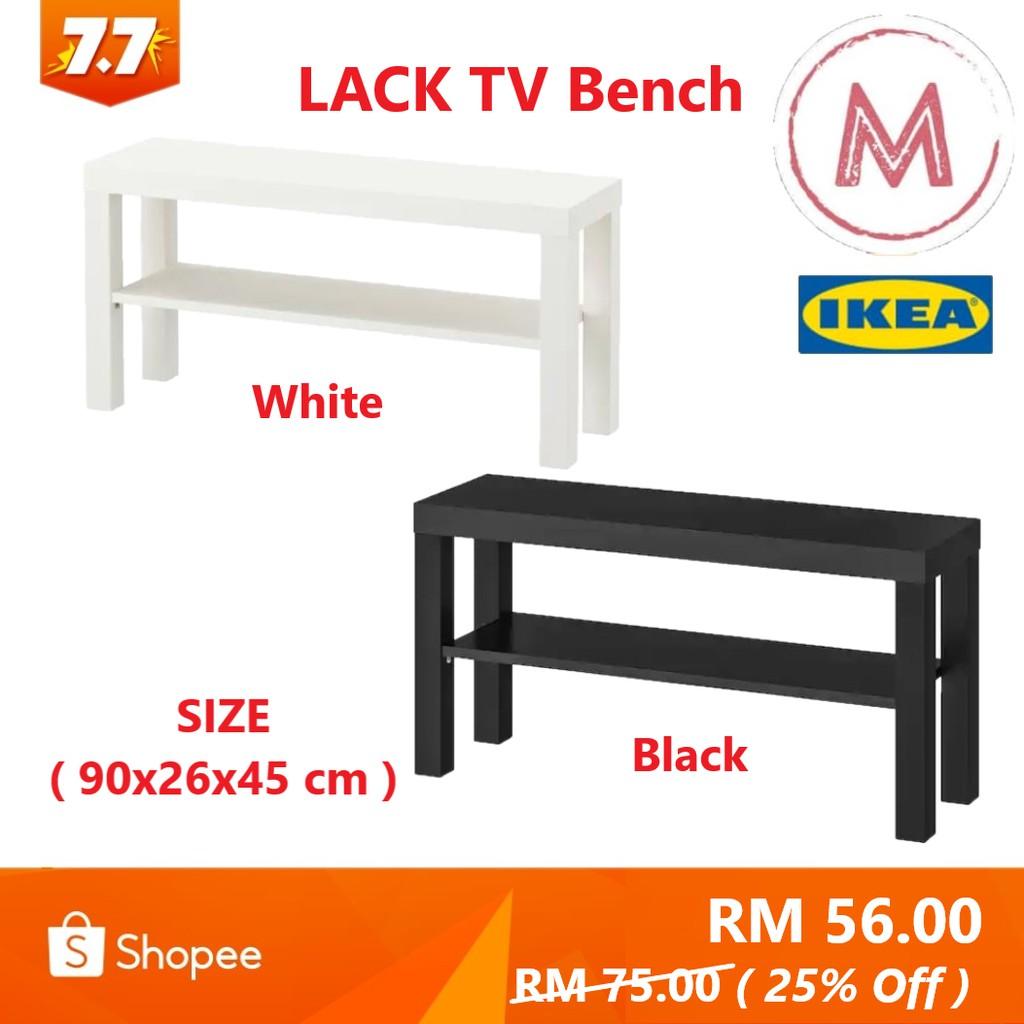 Surprising Ikea Lack Tv Bench White Black 90X26X45 Cm Alphanode Cool Chair Designs And Ideas Alphanodeonline