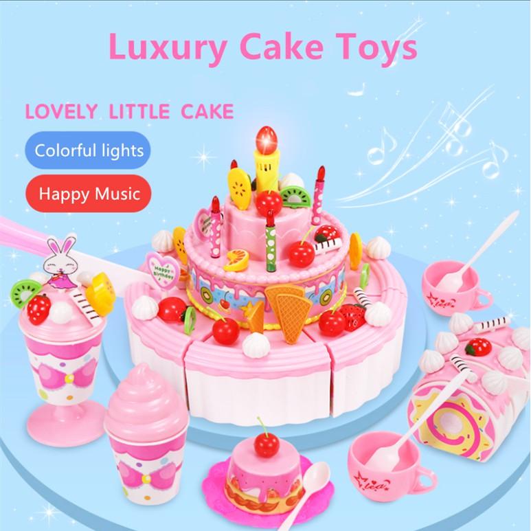 Superb Kids Play Pretend Play Set Plastic Kitchen Music Birthday Fruit Funny Birthday Cards Online Drosicarndamsfinfo