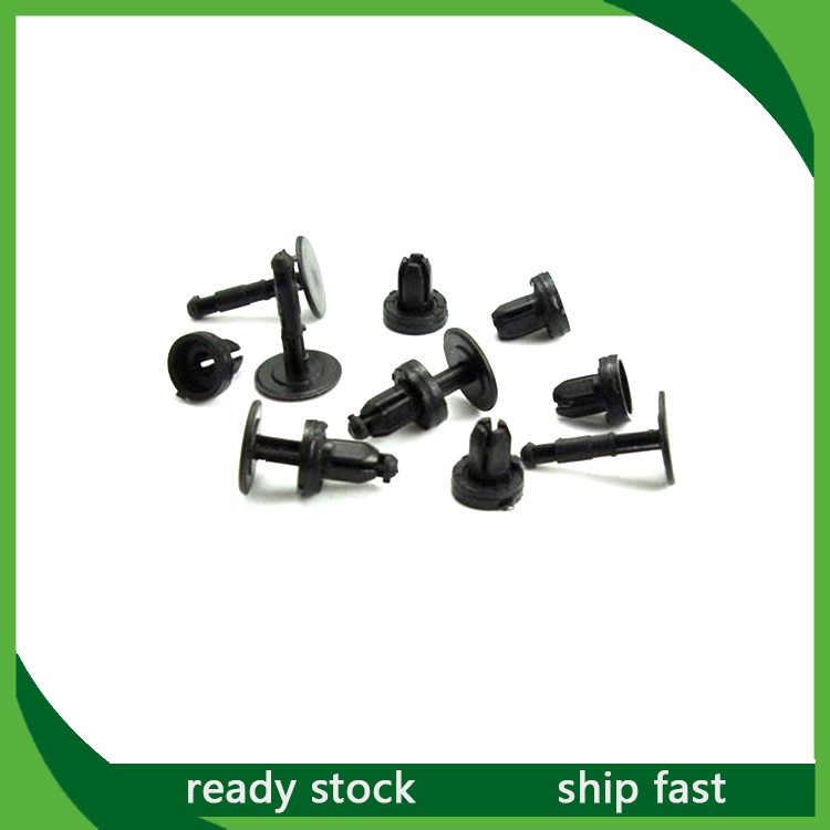 50Pcs Black Car Push Type Cowl Panel Trim Panel Retainer Fastener Clip For Honda