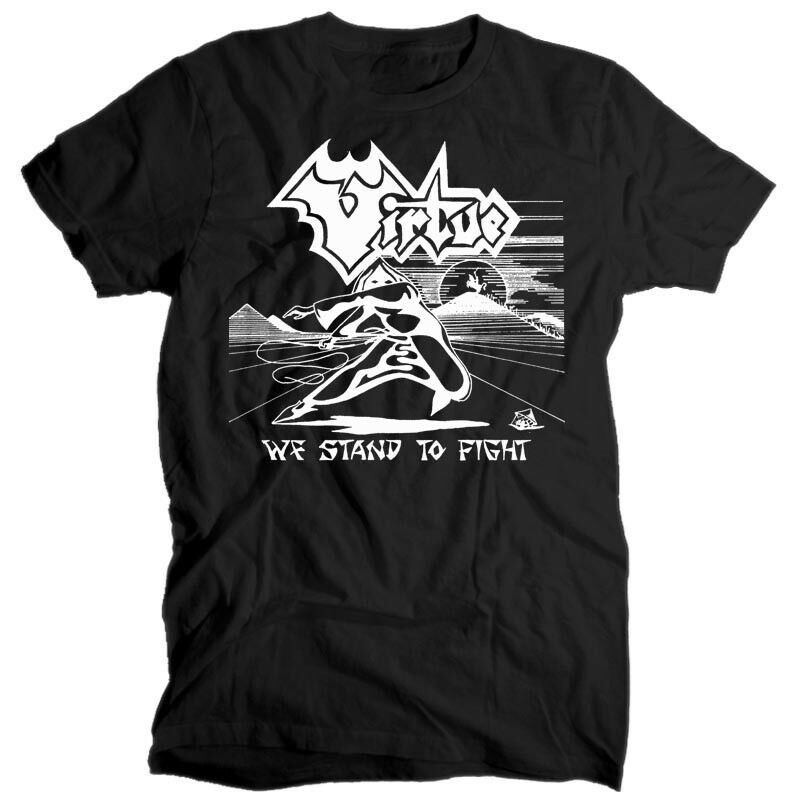 Virtue We Stand To Fight WHITE T SHIRT cotton all sizes S-5XL