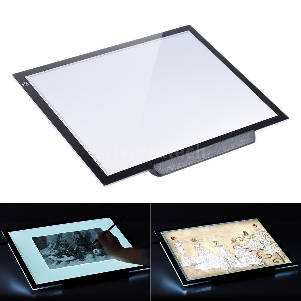 LED Tracing Light Box Board Art Tattoo A5//A6 Drawing Copy Pad Table Stencil Disp