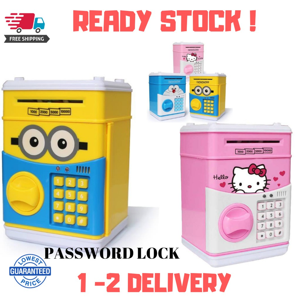 7dfd28e10 ProductImage. ProductImage. 🔥READY STOCK🔥 ATM PASSWORD piggy bank / coin  storage