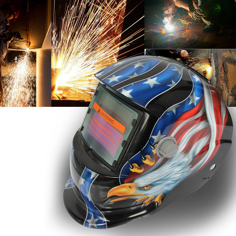 Back To Search Resultshome 2018 New Pro Solar Welder Mask Auto-darkening Welding Helmet Pattern Fire Skull 100% Original