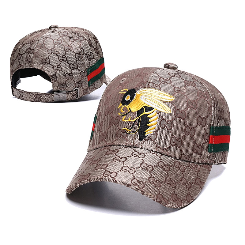 02fdc193 Gucci INS foreign trade hat golden bee embroidered baseball cap