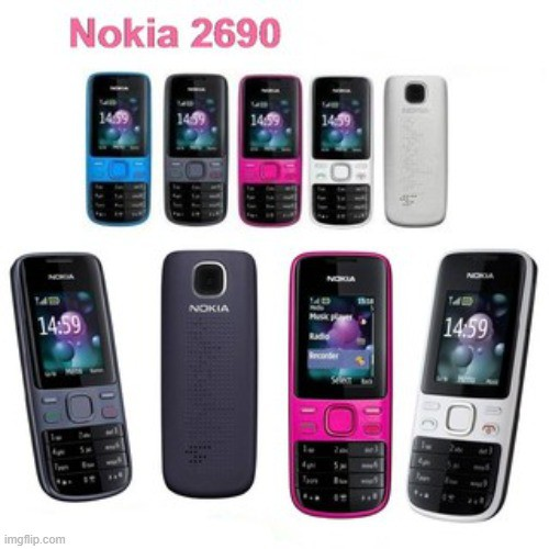 [ READY STOCK ] NOKIA 2690 Single Sim MOBILE PHONE with camera / memory card slot/Game (IMPORT SET)