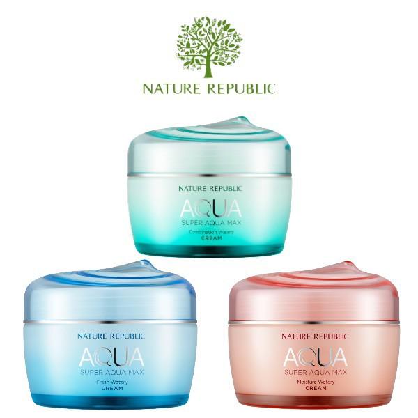 Nature Republic Super Aqua Max Combination/Fresh/Moisture Watery Cream (80ml) | Shopee Malaysia