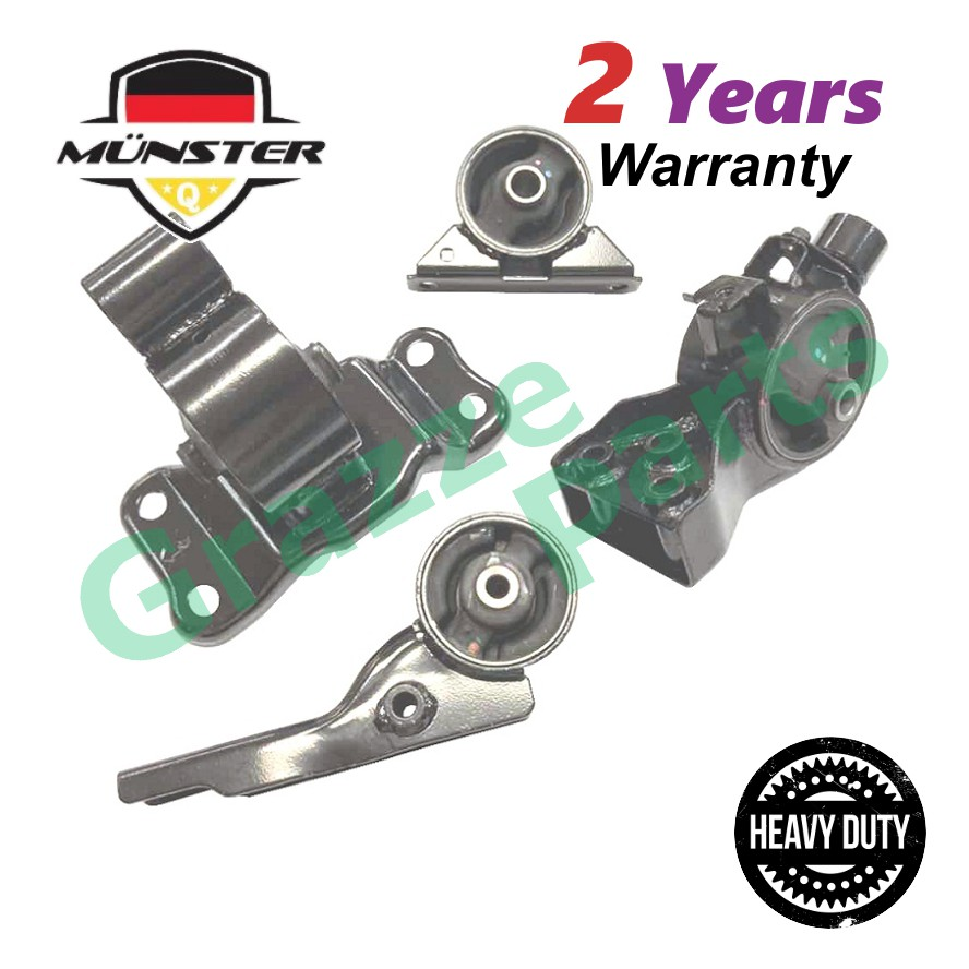 """Münster """"Heavy Duty"""" PRO7558 Engine Mounting Set for Proton Exora Manual Transmission"""