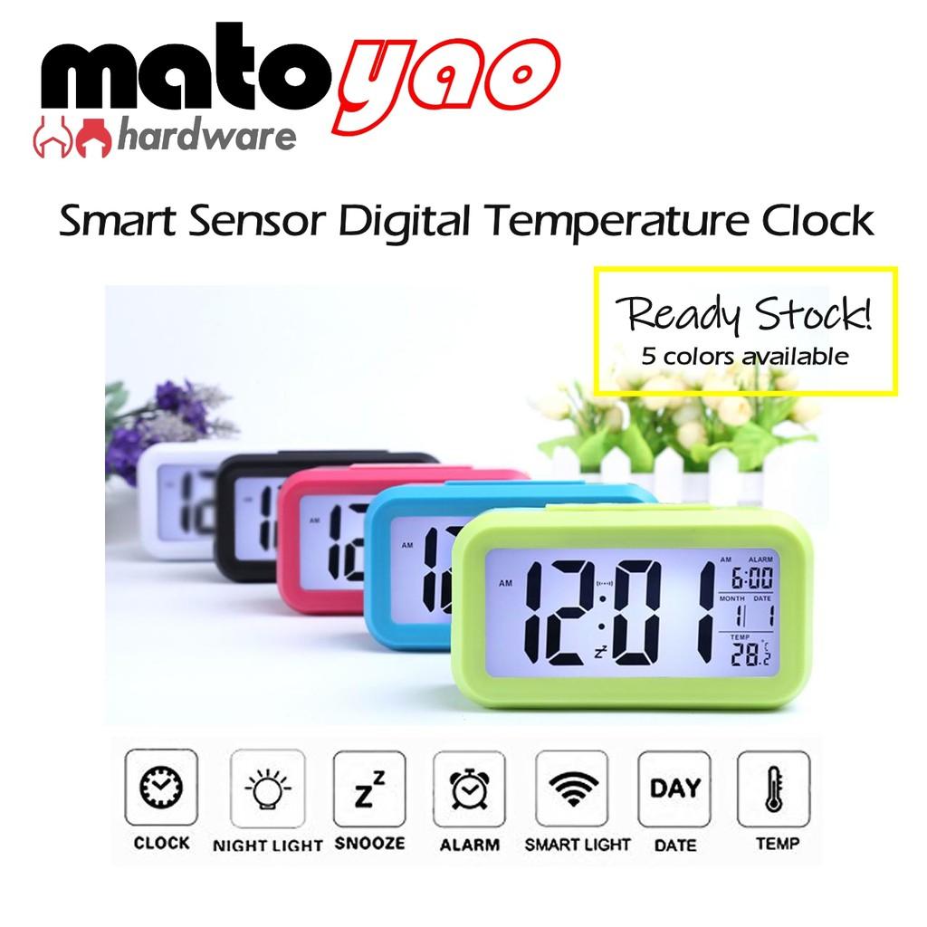 Digital LED Alarm Clock with Night Sensor