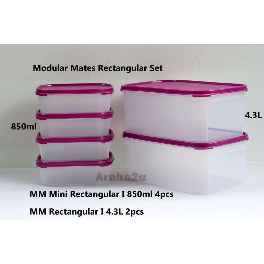 Tupperware-Modular Mate 4 PC rectangular set Brand New!!