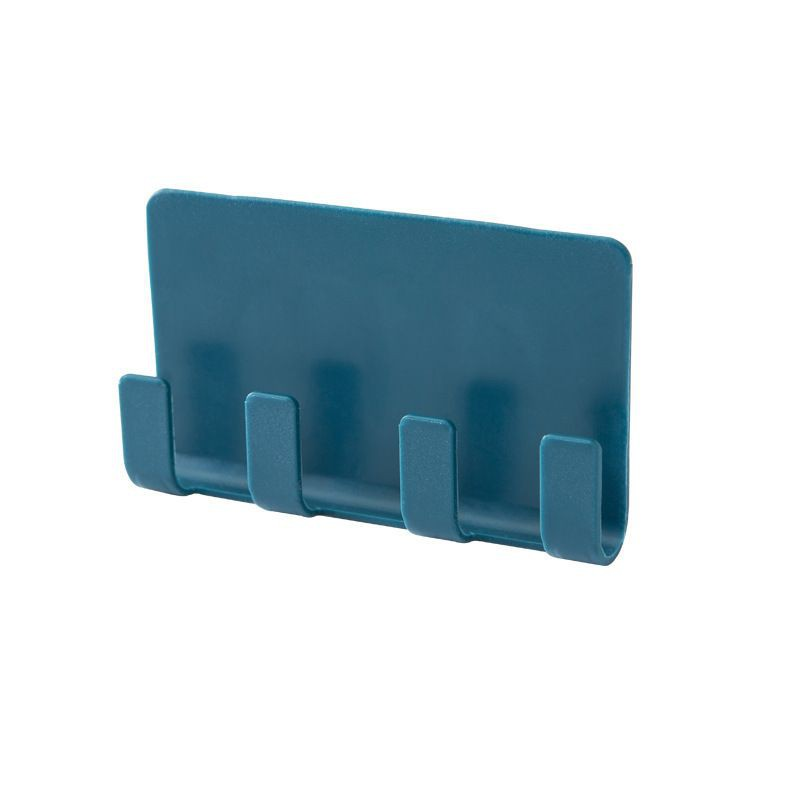 粘贴式手机充电收纳置物架4爪墙壁塑料插头门后挂钩Adhesive mobile phone charging storage rack 4 claw wall plastic plug door rear hook