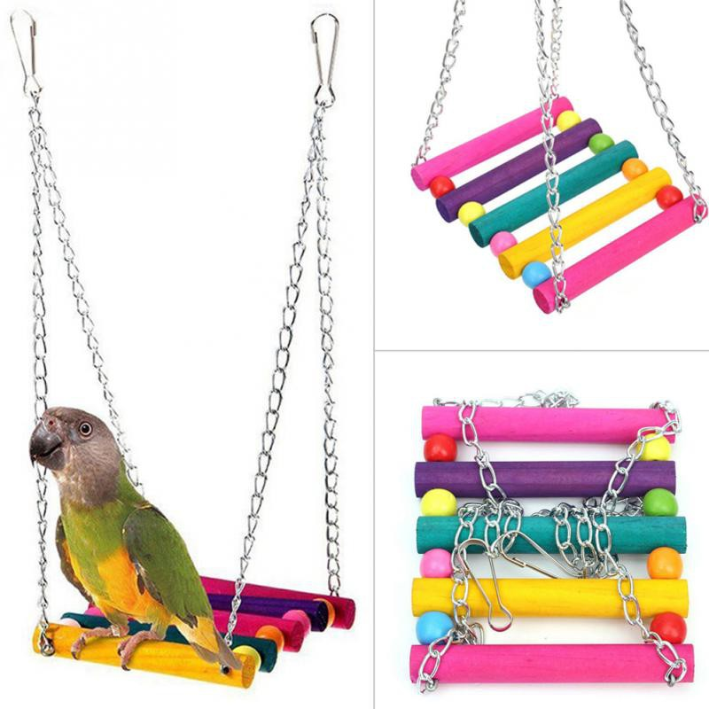 Pet Bird Swing Toys Pet Hanging Swing For Parrot Parakeet Perches Hanging Cage Toy Cockatiels Macaws Finches Colorful Shopee Malaysia