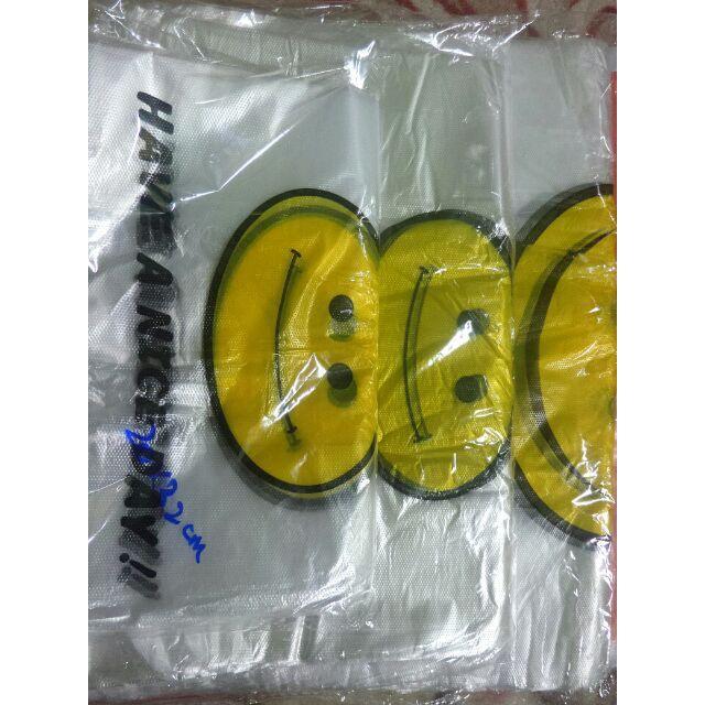 [100 pcs] Beg Plastic Smiley Thank You / Plastik Sengih Senyum Terima Kasih