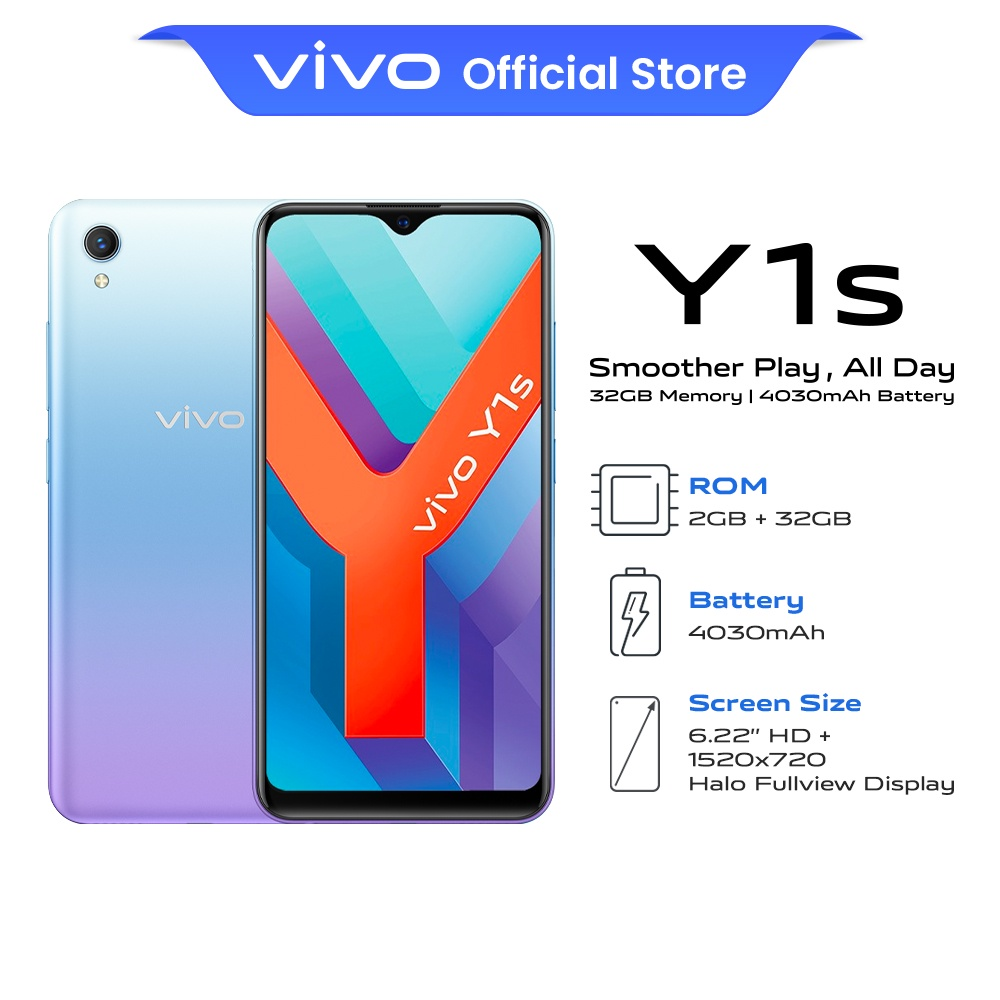 """vivo Y1s Aurora Blue 
